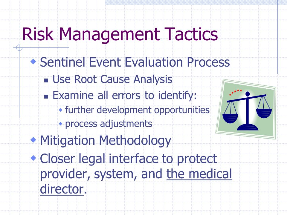 Risk Management Tactics
