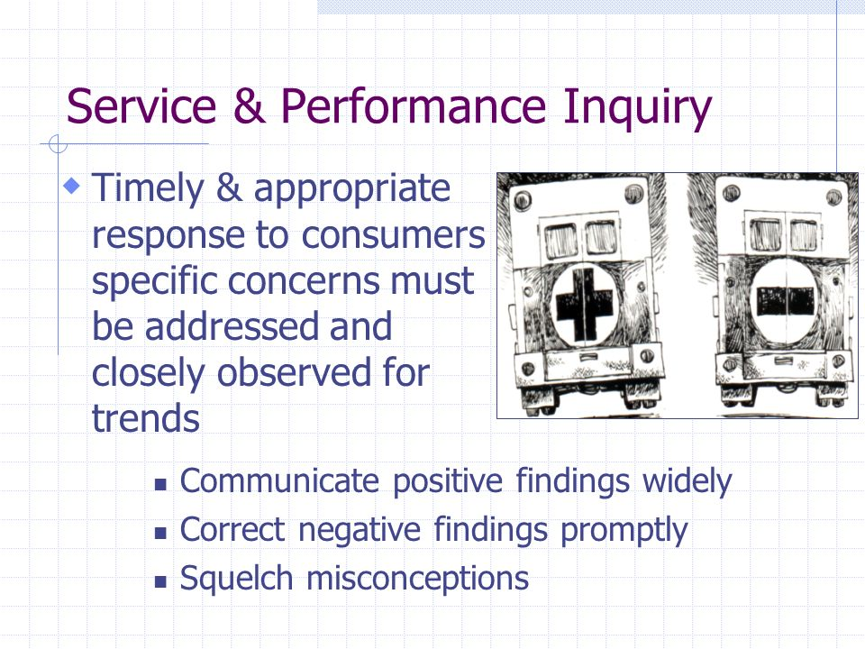 Service & Performance Inquiry