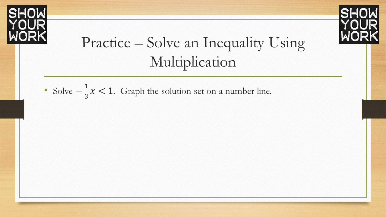 Drawing Using Inequality Number Lines : Algebra chapter ppt video online download