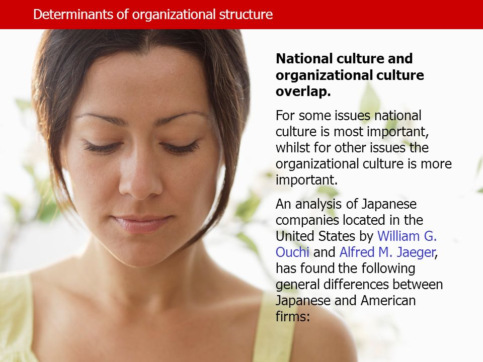 Determinants of organizational structure