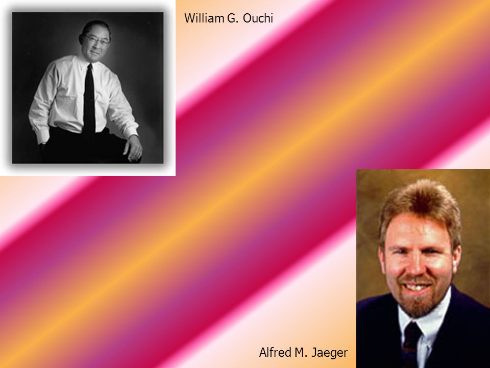 William G. Ouchi Alfred M. Jaeger