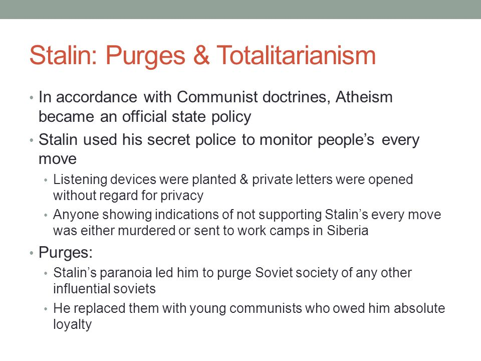 stalin paranoia and the purges Joseph stalin - the great purge the great purge was a series of repressive measures in the soviet union in the late 1930s robert conquest emphasized stalin's paranoia, focused on the moscow show trial of old bolsheviks.