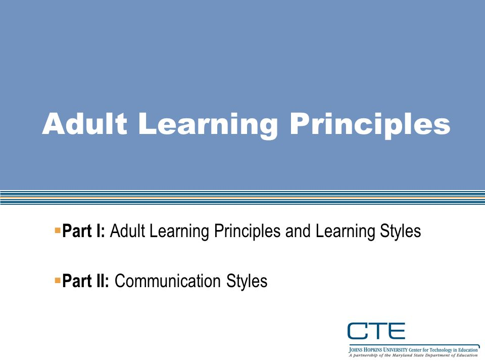 presentation for adults styles Learning