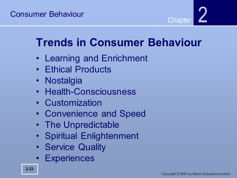 the trends in teenage consumer behaviour Trends in consumer behavior: the next ten years report of a seminar conducted by the foundation for research on human behavior, may 1-2, 1957 in ann arbor, michigan and.