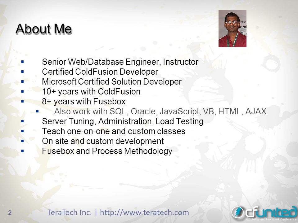 About+Me+Senior+Web%2FDatabase+Engineer%2C+Instructor generating ppt and xls in coldfusion 9 ppt download fusebox coldfusion at crackthecode.co