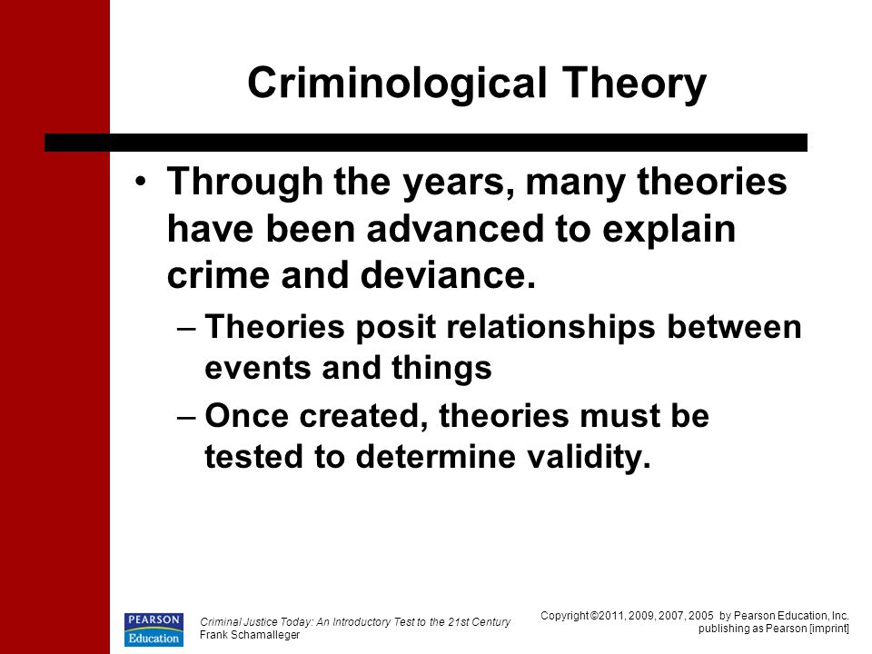 my opinion on criminological theories Get this from a library criminological theories : [introduction and evaluation] [ronald l akers.