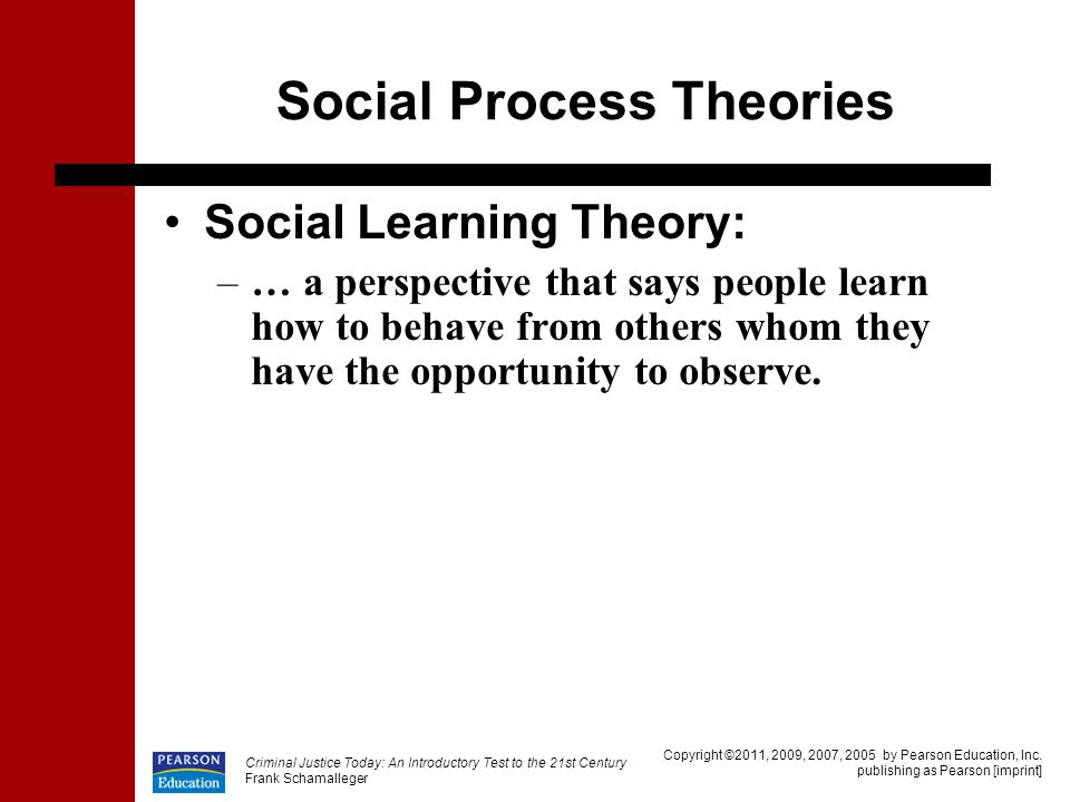 the social process theory Deviance is any behavior that violates social norms, and is usually of sufficient   critics note the theory's lack of statements concerning the process of learning.