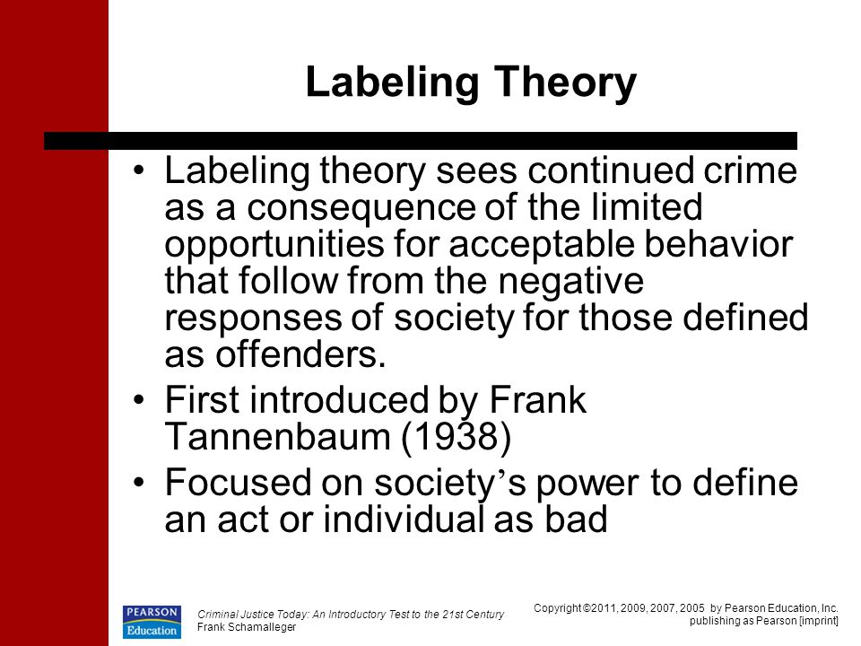 labelling theory on crime and deviance Key assumptions they reject official statistics on crime, making them part of their subject of study they reject structural causal explanations of crime and deviance.