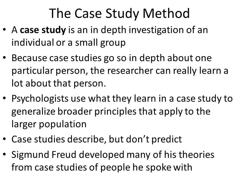 psychological case study report