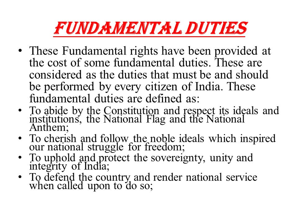 the fundamental rights and duties of Competitive exams political science notes on eleven fundamental duties   between fundamental rights and directive principles (download pdf)  directive.