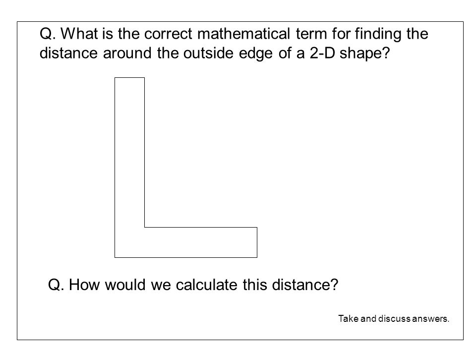 Q. How would we calculate this distance