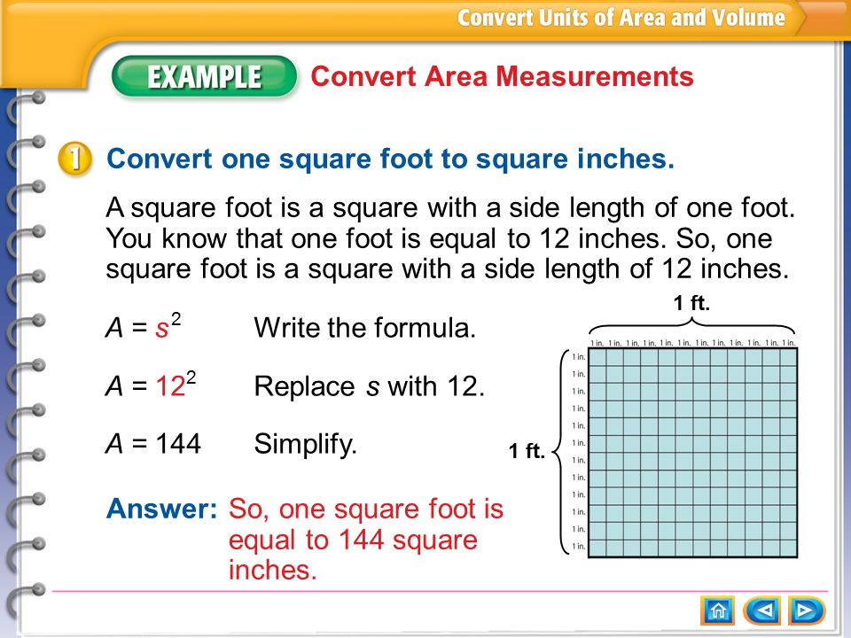 Example 1 Convert Area Measurements Ppt Download