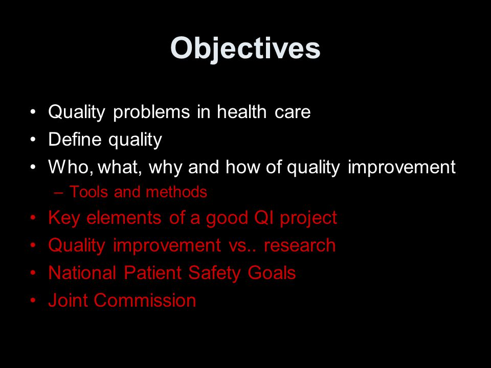 quality health care is defined as There is growing interest, awareness, and momentum for the promise of performance management and quality improvement the concepts, resources and links provided on these pages are intended to support state, tribal, local and territorial health departments as they head down the path of improving their performance.