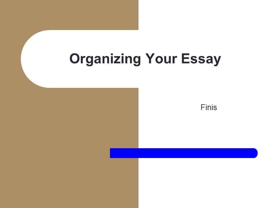 chronological order essay organization