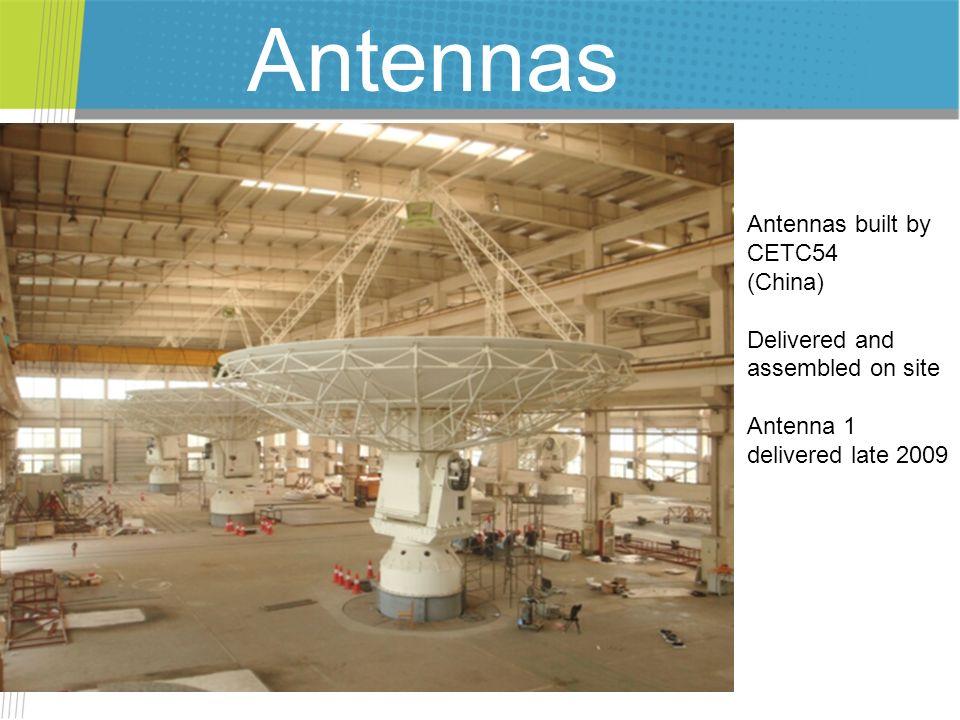 Antennas Antennas built by CETC54 (China)
