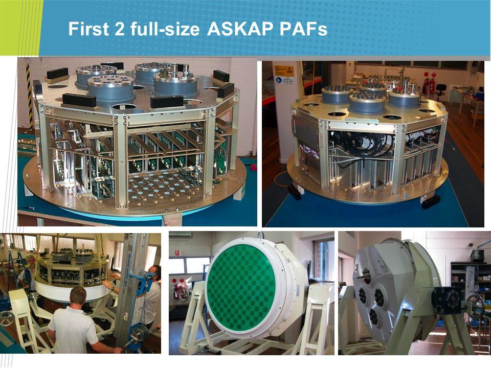 First 2 full-size ASKAP PAFs