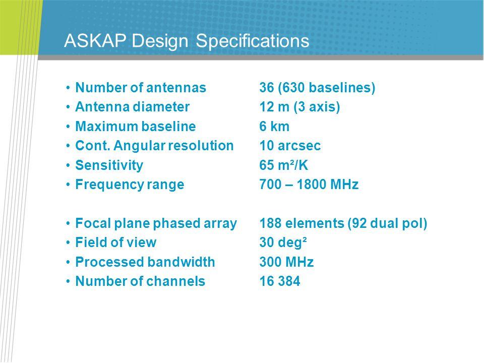 ASKAP Design Specifications