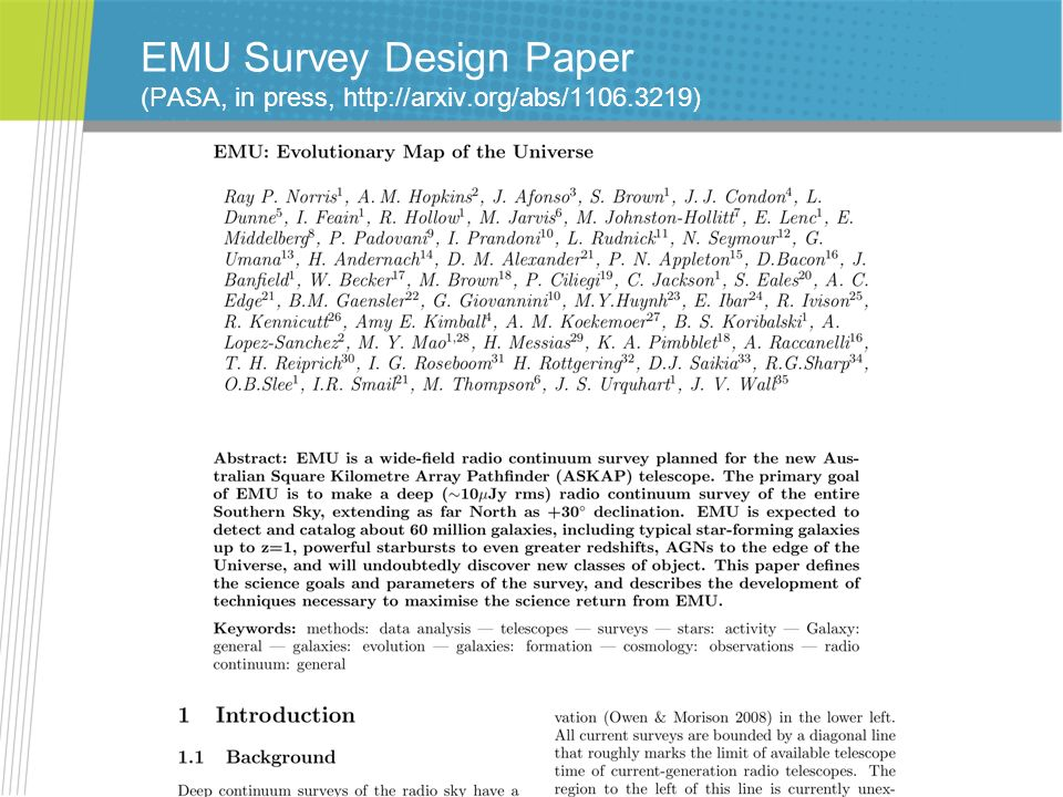 EMU Survey Design Paper (PASA, in press,   org/abs/1106