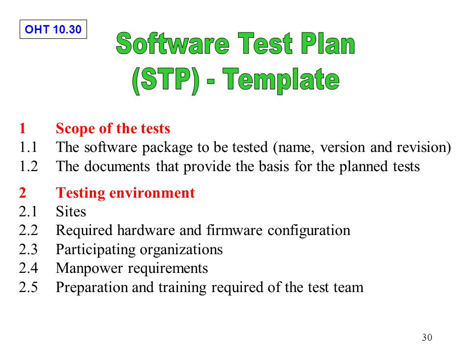 Chapter 10 software testing implementation ppt download for Software test policy template