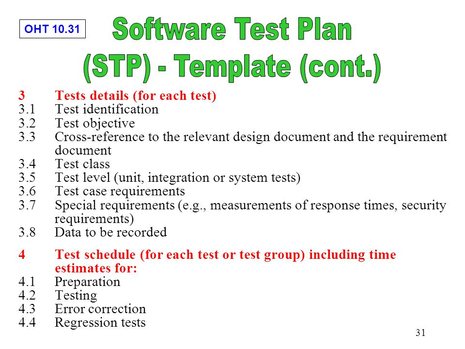 Chapter 10 software testing implementation ppt download for Software testing schedule template