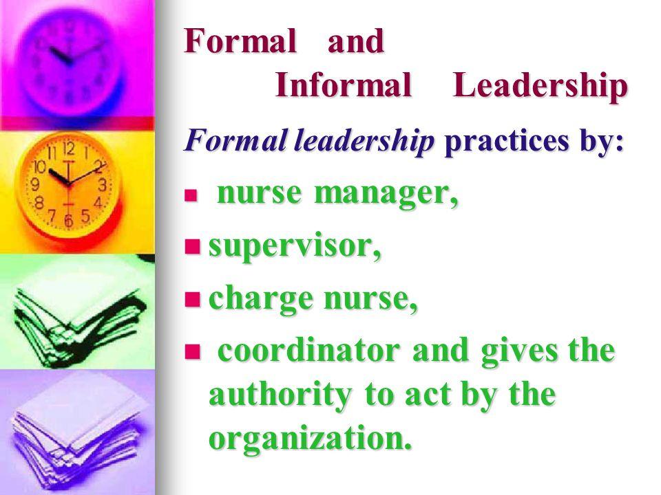 Formal and Informal Leadership