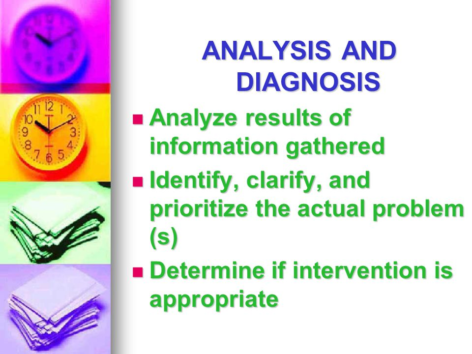 ANALYSIS AND DIAGNOSIS