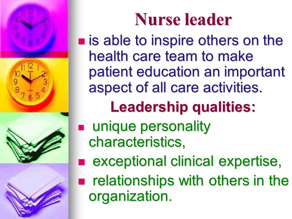 Leadership qualities: