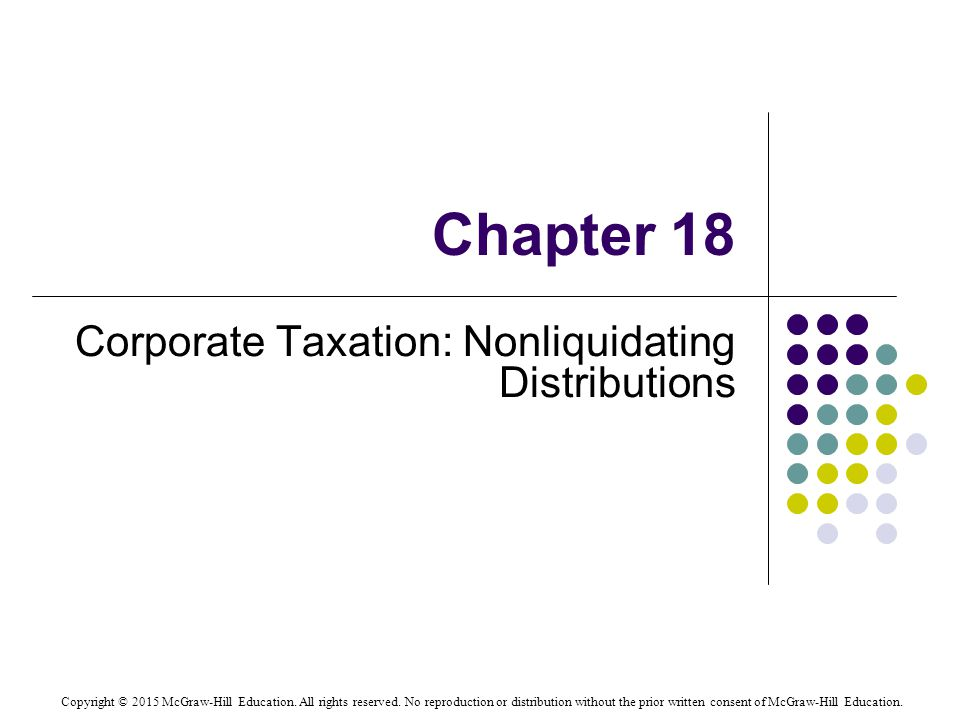 Tax treatment of nonliquidating distributions