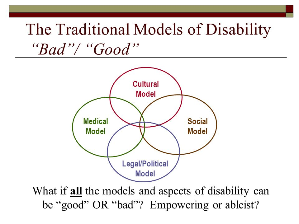 social and traditional models of disability essay The influence of the social security system on medical model of disability today in the area of public policy cannot be overemphasised, most notably in the social security system, in which disability is defined as the inability to work.