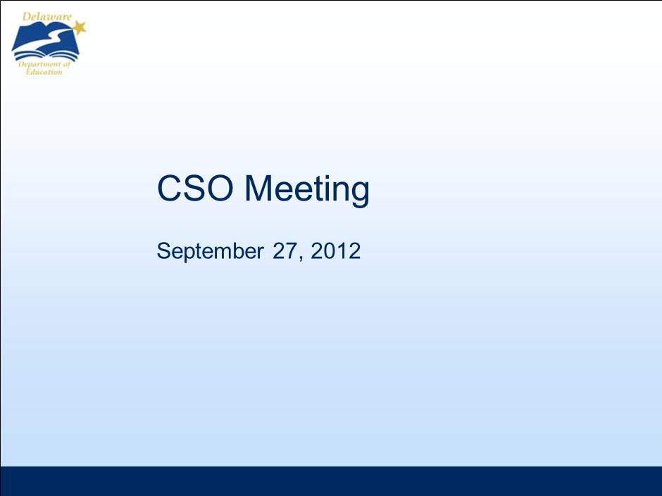 CSO Meeting September 27, 2012