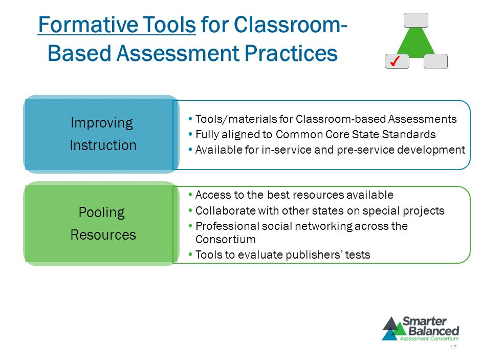 Formative Tools for Classroom- Based Assessment Practices