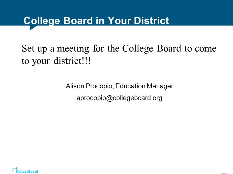 College Board in Your District