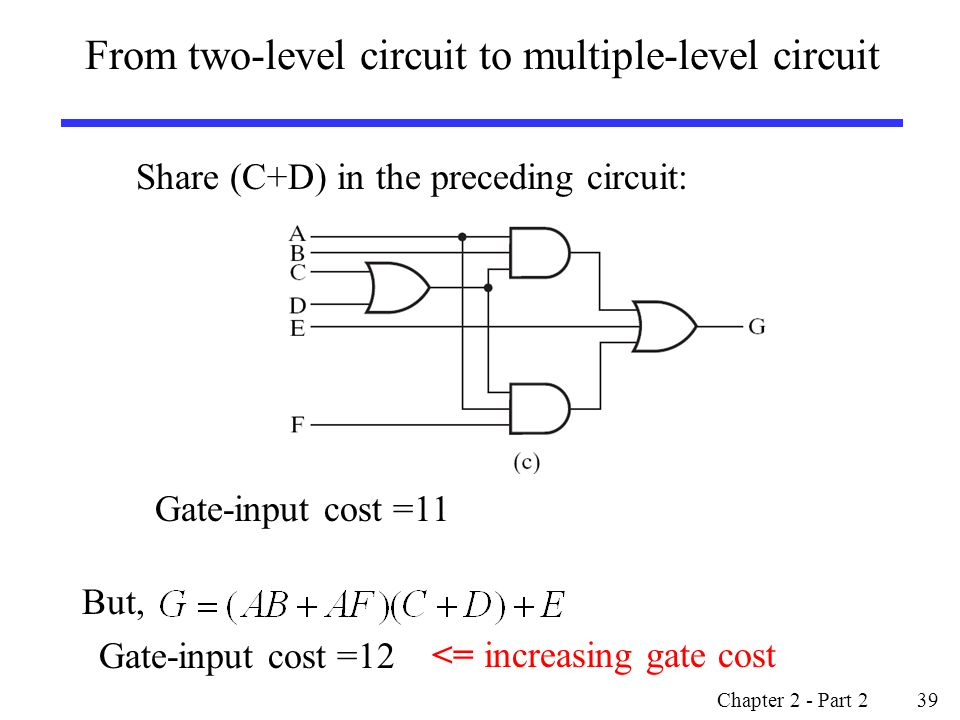 From two-level circuit to multiple-level circuit