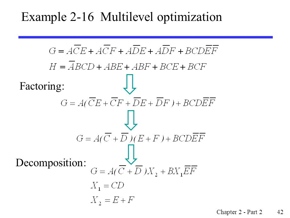Example 2-16 Multilevel optimization