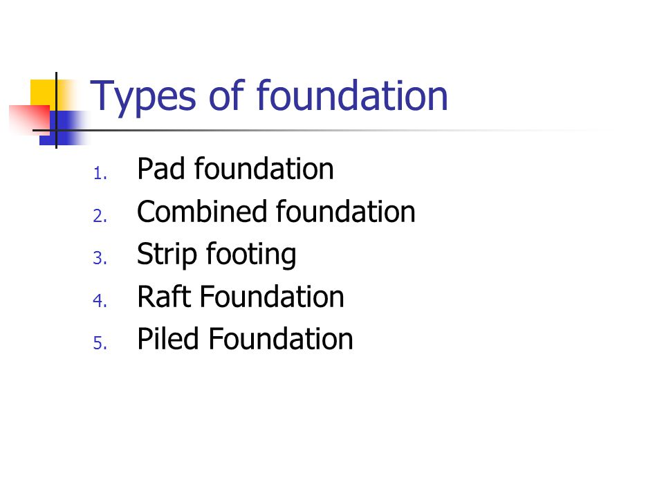 Foundation design ppt video online download for What types of foundations are there