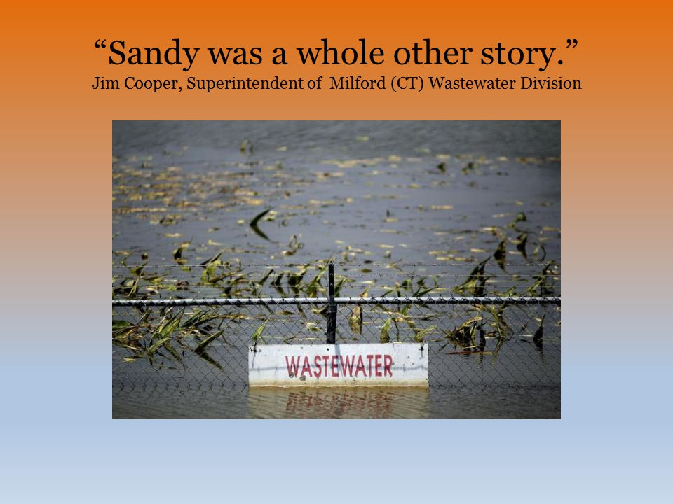 Sandy was a whole other story