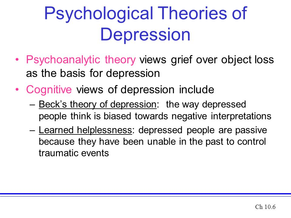 Beck's Cognitive Theory of Depression Essay Sample
