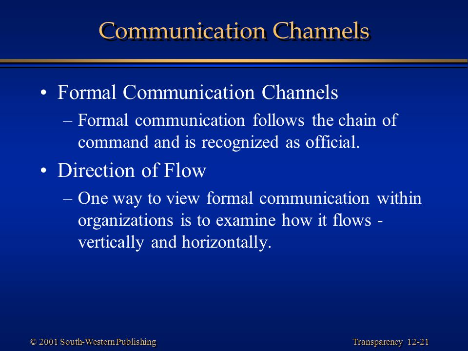 Communication Channels