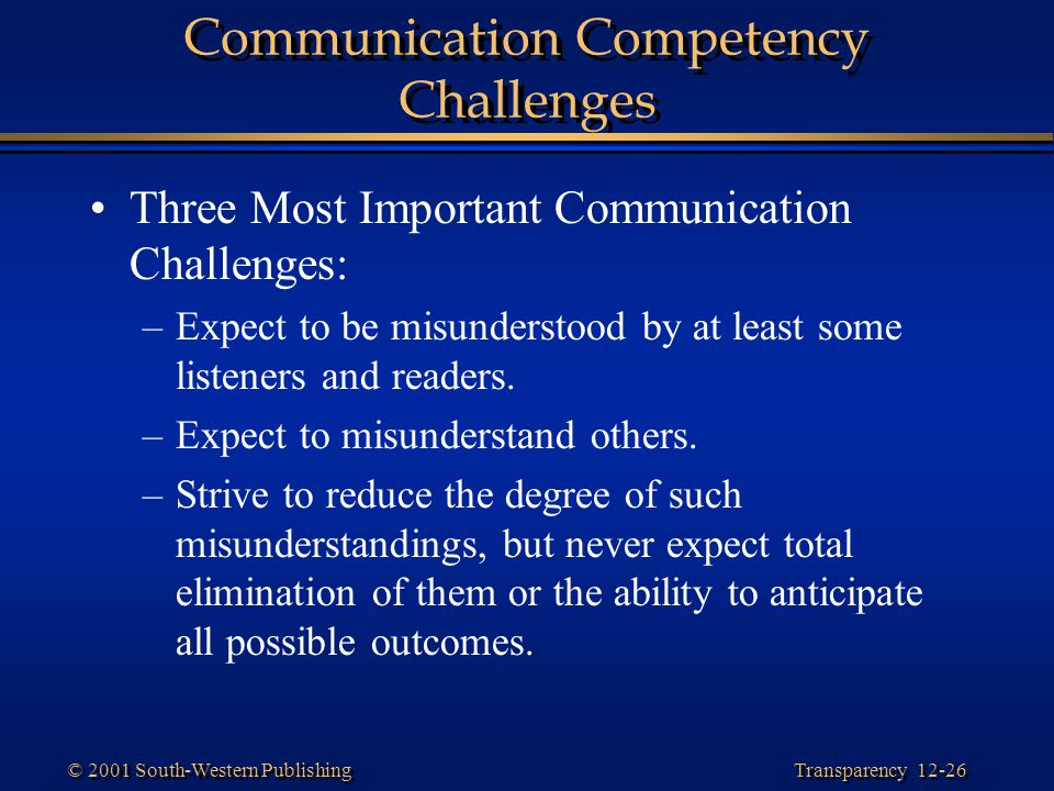 Communication Competency Challenges