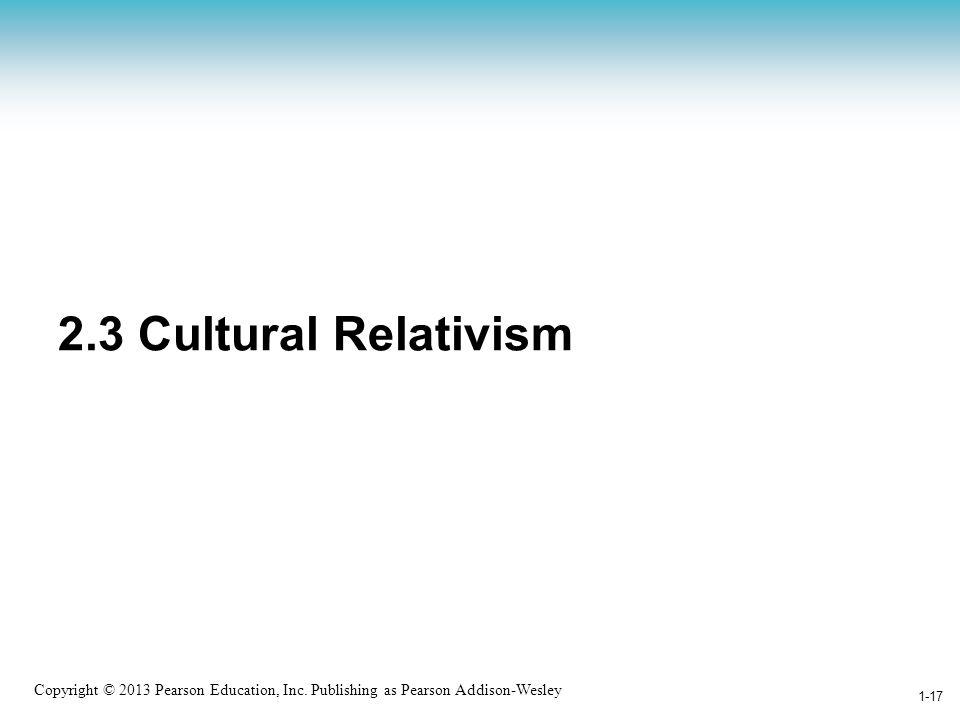 2.3 Cultural Relativism