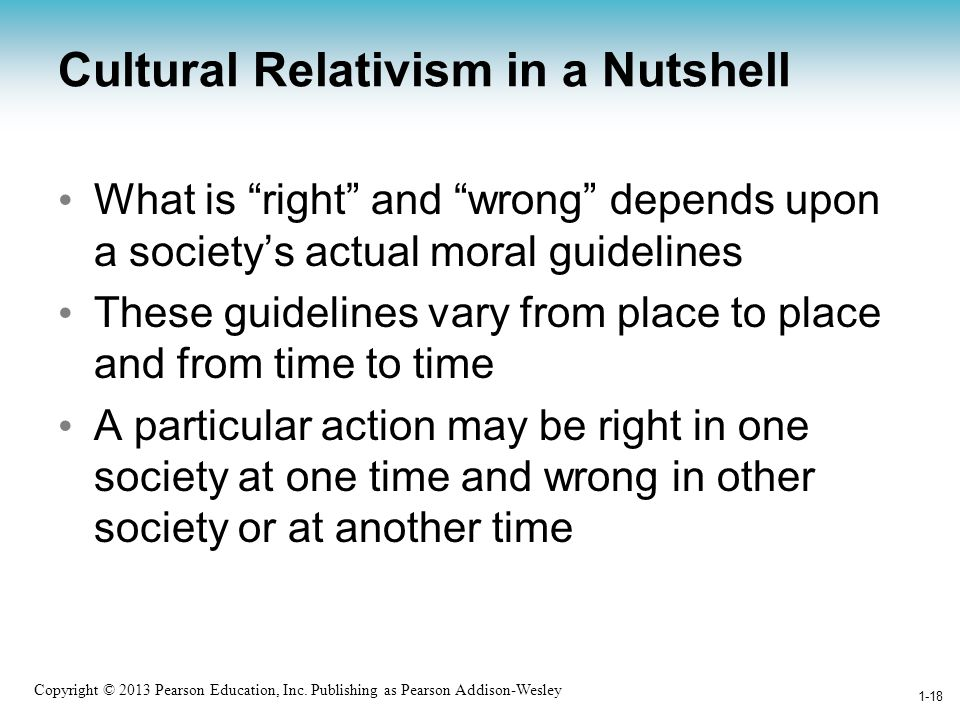 Cultural Relativism in a Nutshell