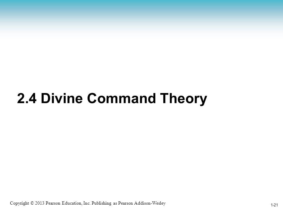 2.4 Divine Command Theory Divine -== إلهي