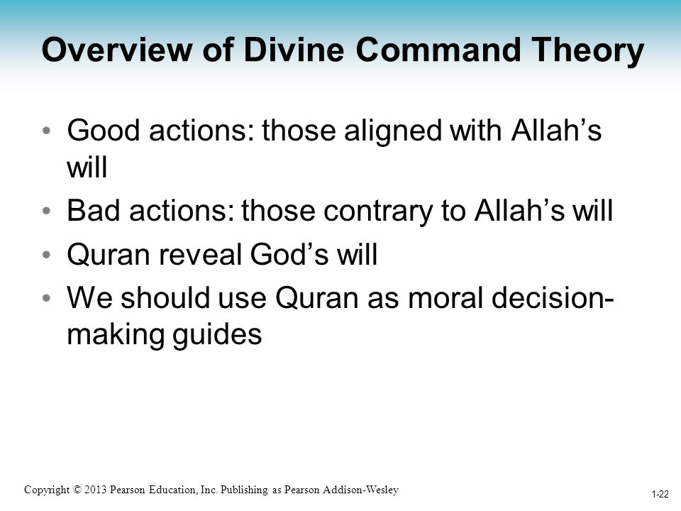 Overview of Divine Command Theory
