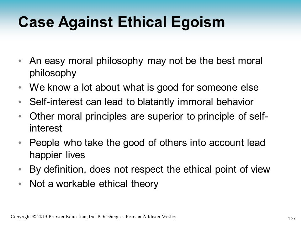 Case Against Ethical Egoism