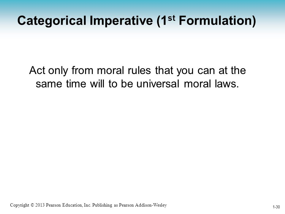 Categorical Imperative (1st Formulation)
