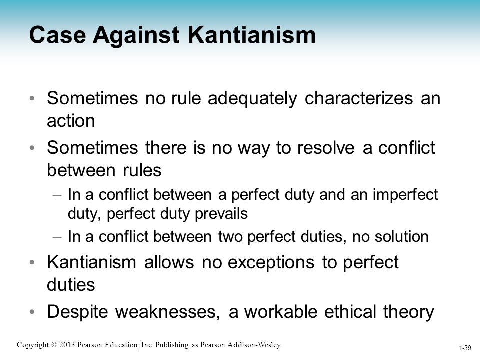 Case Against Kantianism
