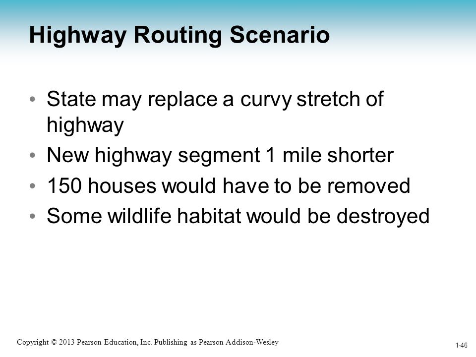 Highway Routing Scenario
