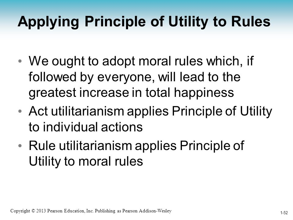 Applying Principle of Utility to Rules
