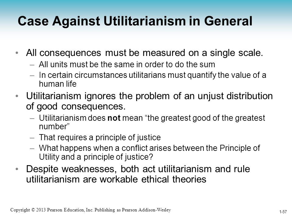 Case Against Utilitarianism in General
