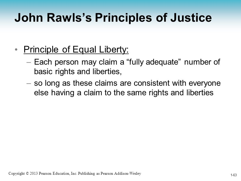 John Rawls's Principles of Justice